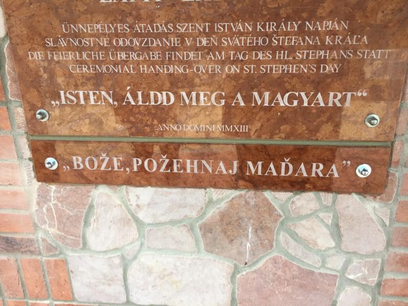 A magyar Himnusz szlovákra fordított első sora